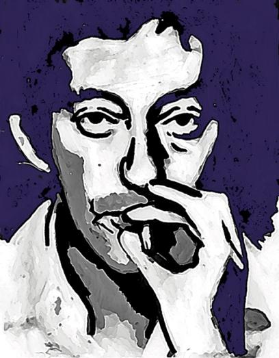 Gainsbourg Fond mauve bis