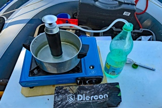 Diercon water purifier in actual use.